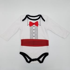 Kidgets Tuxedo Onesie Bodysuit 3-6m